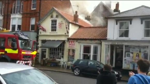 Fire at Aldeburgh Market Cafe
